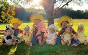 See the Sweet Home Sextuplets Babies' Adorable Halloween Costumes