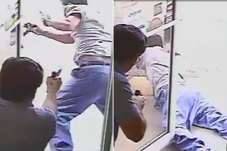 Shocking video shows politician fatally shooting alleged shoplifter