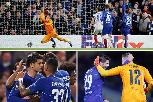 Chelsea 1 MOL Vidi 0: Alvaro Morata glum scorer and Ruben Loftus-Cheek disappoints after England axe