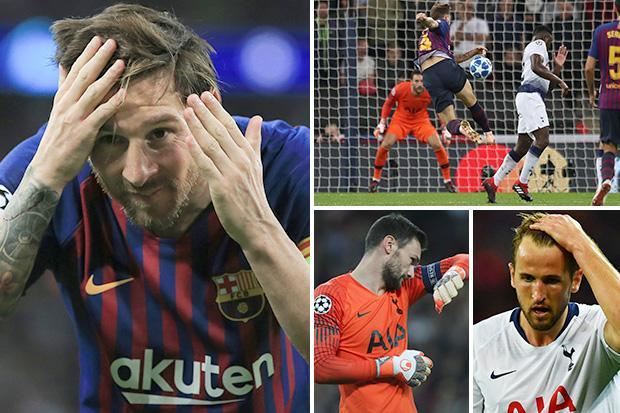 Tottenham 2 Barcelona 4: Lionel Messi magic leaves Spurs Champions League hopes hanging in the balance