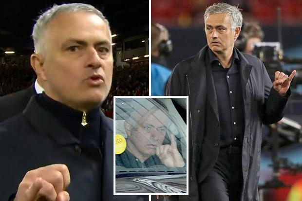 Jose Mourinho risks FA rap for pinky finger gesture… amid claims Manchester United boss is mocking small manhood