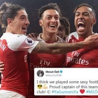 Arsenal star Mesut Ozil hails 'sexy football' after being involved in ten-pass goal