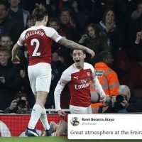 Arsenal's clash with Leicester sparks Twitter frenzy as fans claim Emirates finally has a proper atmosphere