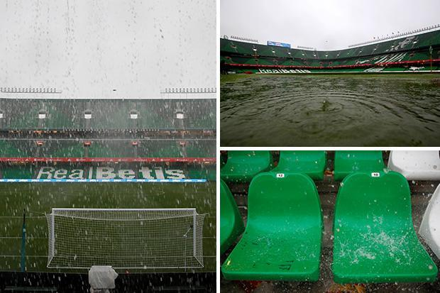 England's clash away to Spain in doubt as heavy rain batters Seville ahead of Uefa Nations League clash