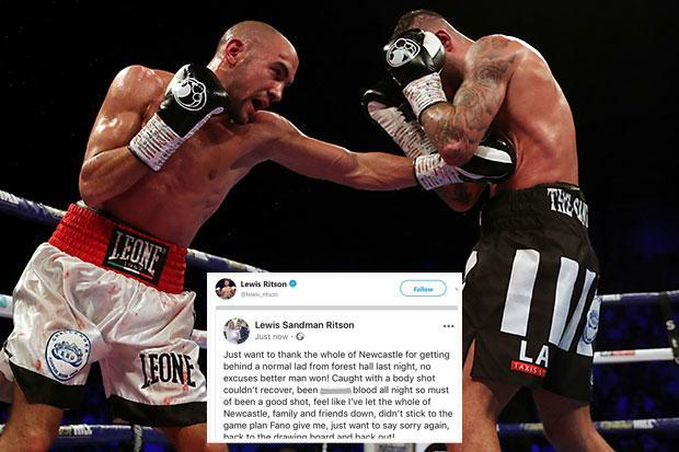 Lewis Ritson reveals he has been 'p***ing blood' all night after shock body shot in defeat to Francesco Patera
