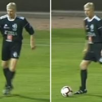 Arsene Wenger rolls back years by setting up brilliant goalscoring move while playing for over an hour in charity match