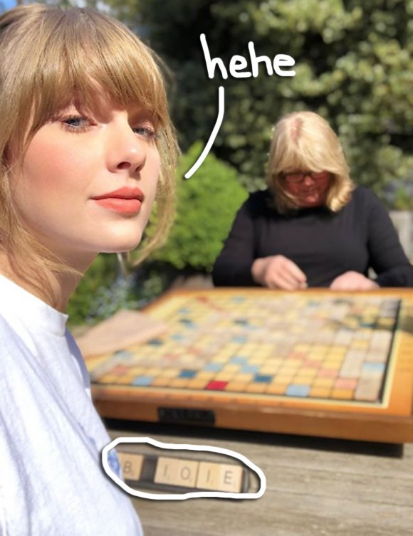 Is Taylor Swift Dropping Album Hints Through Scrabble?!