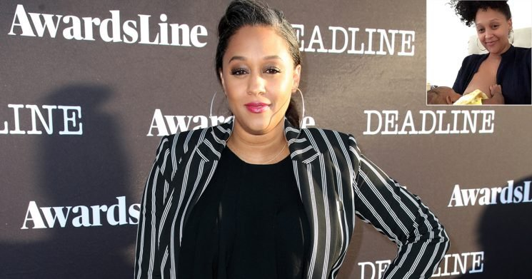 Tia Mowry-Hardrict Says 'This Is Love' as She Smiles in Photo While Breastfeeding Her Baby