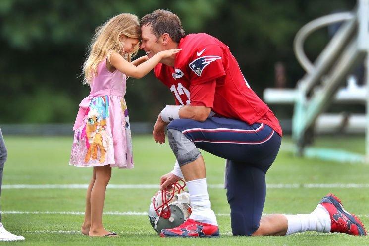 Gisele Bundchen Shares Heartwarming Snap of Tom Brady and Daughter Vivian Before Patriots Win