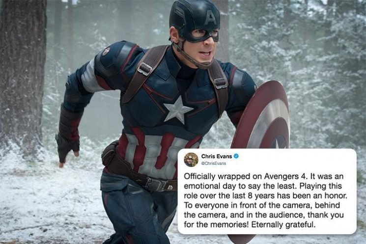 Chris Evans confirms he has quit Captain America role after 8 years in emotional tweet