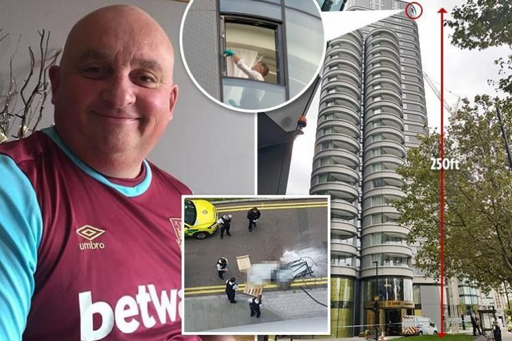 Two workmen almost killed by ANOTHER window falling from luxury London flats year before coach driver crushed to death