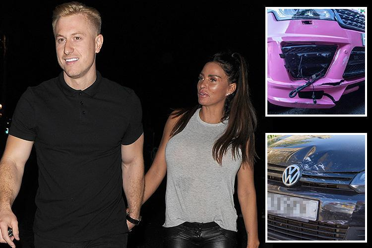 Katie Price spent 13 hours in police custody and was arrested for 'drink driving' after 'crashing her pink Range Rover into a VW Golf and a HEDGE at 2am'