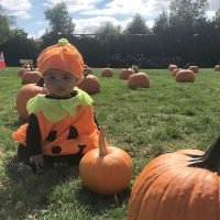 Kourtney Kardashian Shares Adorable Snap of Sister Khloé's Daughter True Dressed Like a Pumpkin