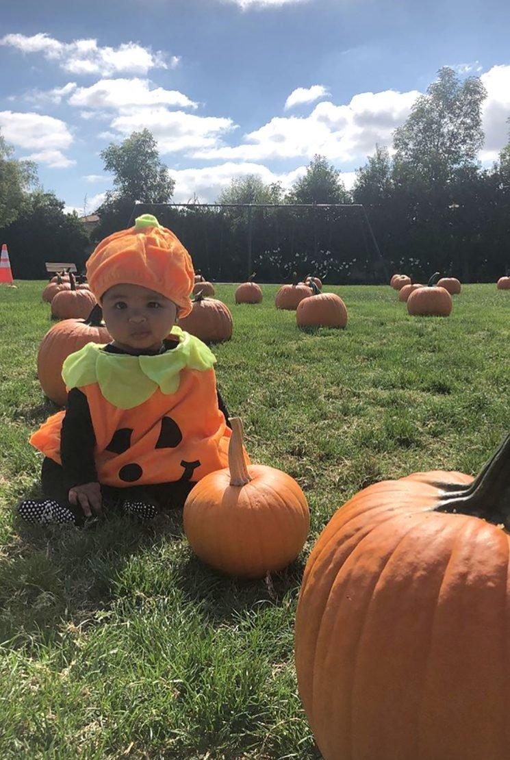 Kourtney Kardashian Shares Adorable Snap of Sister Khloé's Daughter True Dressed Like a Pumpkin