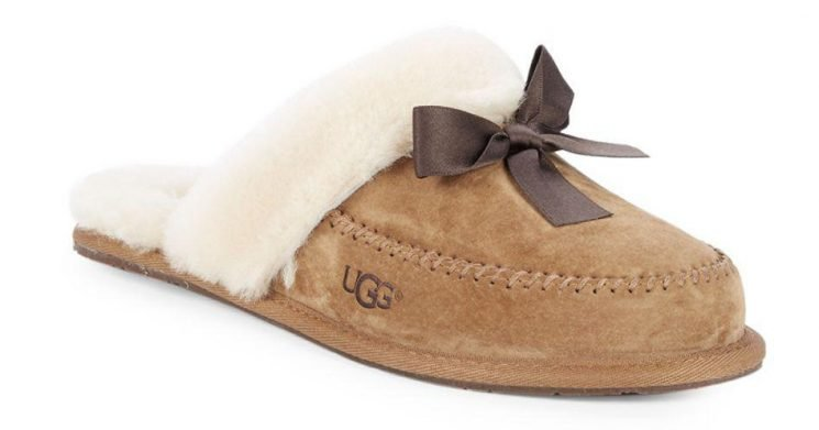 We're Wearing These Adorable Plush Bow Slippers Indoors and Outdoors