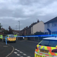 Woman dies after being trapped between a van and gatepost outside her house in Greater Manchester