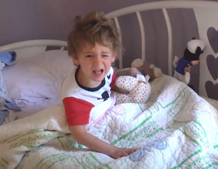 'I Just Want to Sleep!' 3-Year-Old Boy Is Cranky After Family Wakes Him Up with Birthday Song