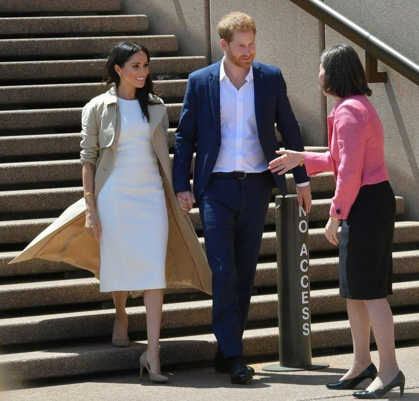 Duchess Meghan wears Karen Gee & Brandon Maxwell in Sydney, Australia