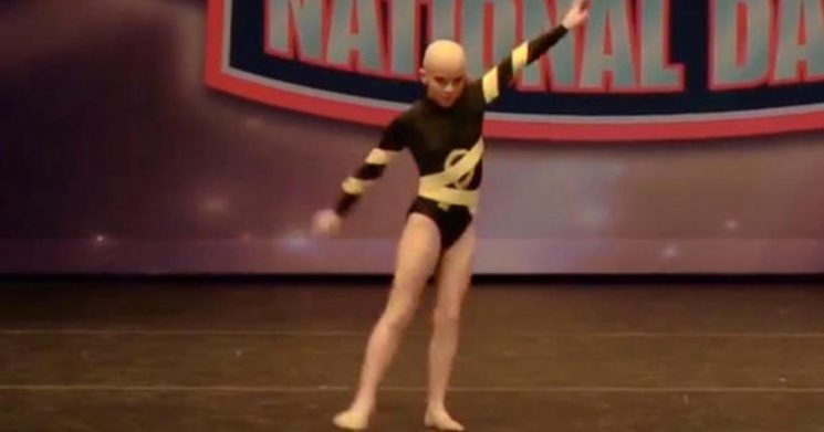 10-year-old girl won't let cancer keep her off the dance floor