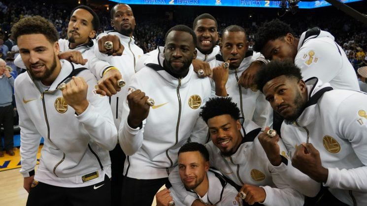 Warriors kick off NBA season with cheesy rite of passage
