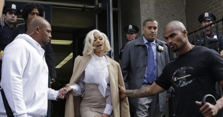 Cardi B turns herself in to NYPD after fight at strip club