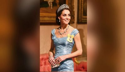 Duchess Kate steps out in the late Princess Diana's beloved tiara for state dinner