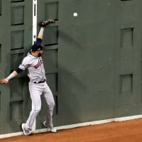 Astros outfielder runs into Green Monster minutes after hitting HR over it