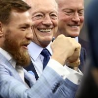 Watch Conor McGregor wildly throw a pass at Dallas Cowboys game
