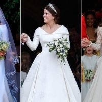 Princess Eugenie, Meghan and Kate's wedding dresses all shared a special similarity