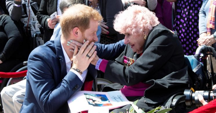 Prince Harry reunites with 98-year-old Australian fan and introduces her to Meghan Markle