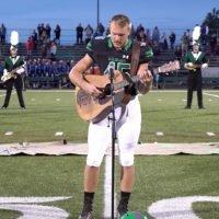 VIDEO: HS football star Jackson Dean Nicholson's national anthem goes viral