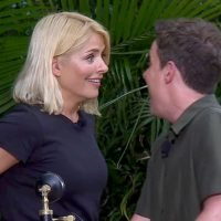 I'm A Celebrity's Holly Willoughby mortified as Sair Khan sucks on cow teat