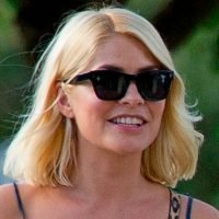 Holly Willoughby celebrates I'm A Celebrity success with fish and chip supper