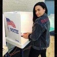 Demi Lovato Breaks Social Media Silence to Show She's Voting