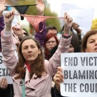 Protesters storm Ireland after thong cited as sign of consent in rape case