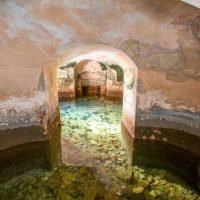 Blenheim Palace's lake drained revealing secret tunnels and sunken boats