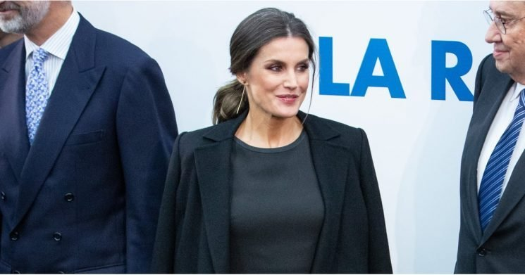 Queen Letizia's Gold Pleated Skirt Is All You'll Ever Need This Party Season