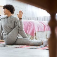 The Best Yoga Poses For A Stomach Ache Will Help You Digest After Thanksgiving Dinner
