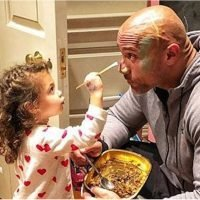 The Rock's Daughter Painting All Over His Face Might Just Be the Purest Thing We've Ever Seen