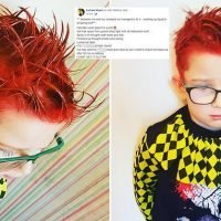 Mother's panic as she mixes up hair dye with SPRAY PAINT