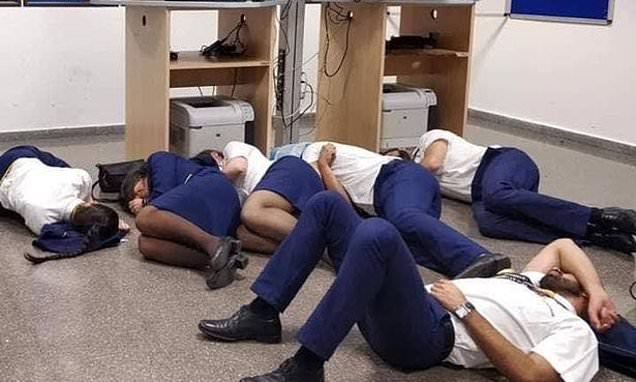 Ryanair sack six cabin crew members after they 'staged' photo