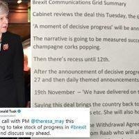 Tusk drops big hint about 'progress' in Brexit negotiations