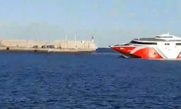 Rescue op underway as ferry collides with boat off Gran Canaria