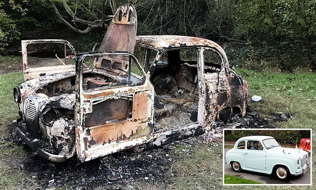Car fan heartbroken after thieves stole and torched his Austin A35