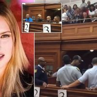 Public gallery cheers as men who killed Hannah Cornelius are jailed