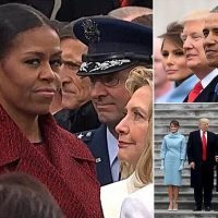 Michelle Obama 'stopped trying to smile' at Trump's inauguration