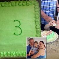Dad slams supermarket for 'pathetic effort' on $49 frog birthday cake