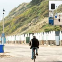 Four BICYCLE speed cameras put up on popular beach