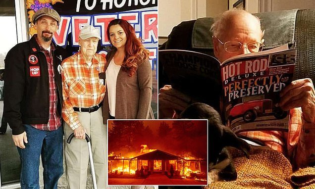 Californian woman, 43, takes in 93-year-old WWII vet fleeing wildfire
