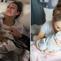The heart-wrenching moment a mother, 20, meets her stillborn baby